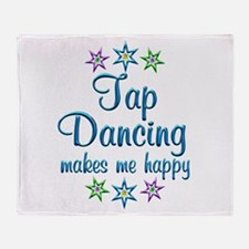 Tap Dancing Happy Throw Blanket