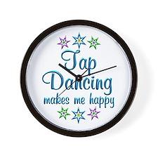 Tap Dancing Happy Wall Clock