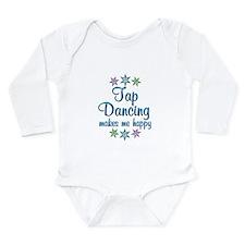Tap Dancing Happy Long Sleeve Infant Bodysuit