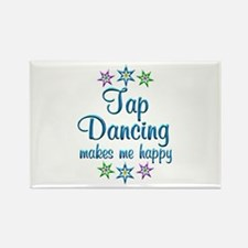 Tap Dancing Happy Rectangle Magnet (10 pack)