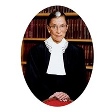 notorious rbg Oval Ornament