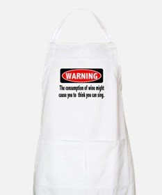 Wine Warning BBQ Apron