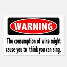 Wine Warning Postcards (Package of 8)