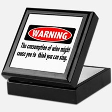 Wine Warning Keepsake Box