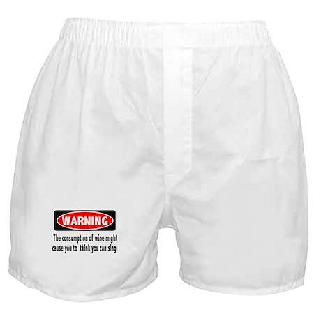 Wine Warning Boxer Shorts