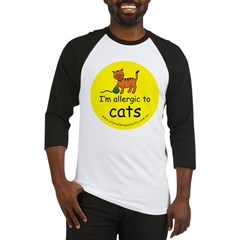 I'm allergic to cats Baseball Jersey