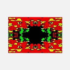 Digital Pattern Rectangle Magnet