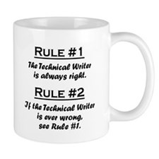 Rule Technical Writer Mugs