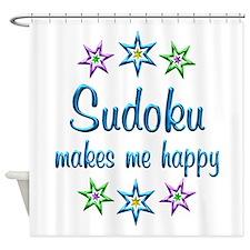 Sudoku Happy Shower Curtain