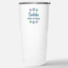 Sudoku Happy Stainless Steel Travel Mug