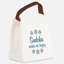 Sudoku Happy Canvas Lunch Bag