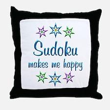 Sudoku Happy Throw Pillow