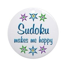 Sudoku Happy Ornament (Round)