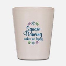 Square Dancing Happy Shot Glass