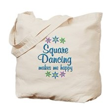Square Dancing Happy Tote Bag