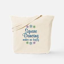 Square Dancing Happy Tote Bag