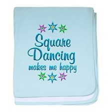 Square Dancing Happy baby blanket
