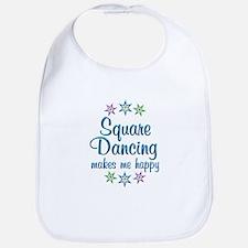 Square Dancing Happy Bib