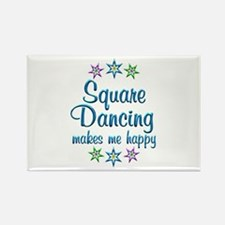 Square Dancing Happy Rectangle Magnet