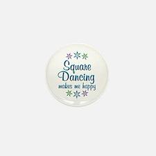 Square Dancing Happy Mini Button (10 pack)
