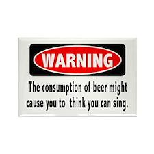 Beer Warning Rectangle Magnet