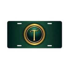 Irish Luck T Aluminum License Plate