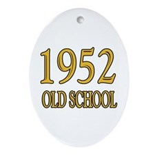 1952 Old School Ornament (Oval)