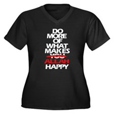 Do More what Women's Plus Size V-Neck Dark T-Shirt