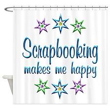 Scrapbooking Happy Shower Curtain
