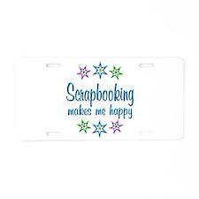 Scrapbooking Happy Aluminum License Plate