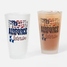 ProudAirForceVeteran Drinking Glass