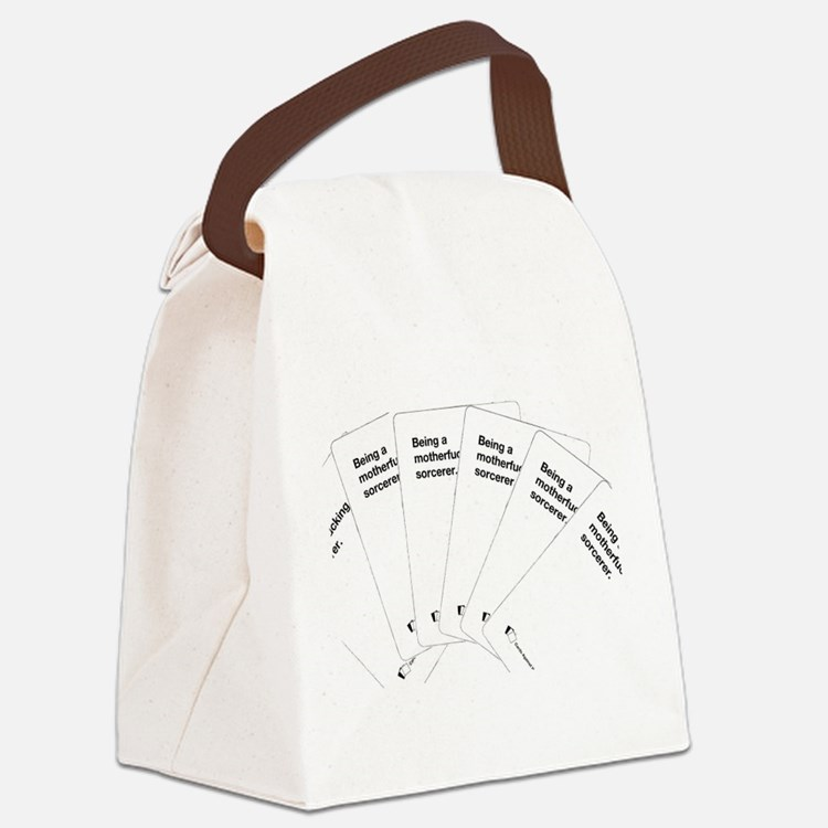 Being a motherfuc_ing sorcerer Canvas Lunch Bag