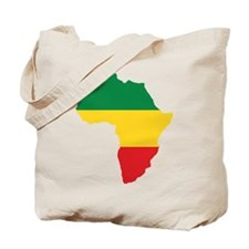 Green, Gold and Red Africa Flag Tote Bag