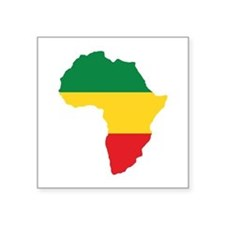 "Green, Gold and Red Africa Square Sticker 3"" x 3"""