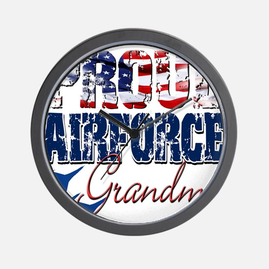 ProudAirForceGrandma Wall Clock