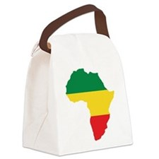 Green, Gold and Red Africa Flag Canvas Lunch Bag