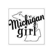"""Funny Michigan Square Sticker 3"""" x 3"""""""