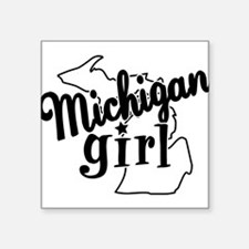 """Unique State of michigan Square Sticker 3"""" x 3"""""""
