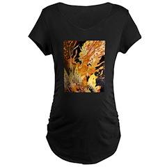 Fire Fiend Maternity Black T-Shirt