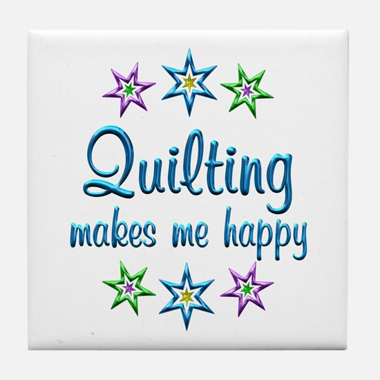 Quilting Happy Tile Coaster
