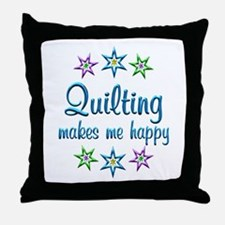 Quilting Happy Throw Pillow