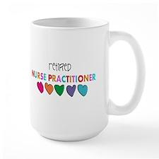 rETIRED nURSE pRACTITIONER HEARTS Mugs