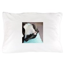 sleeping tuxedo cat Pillow Case