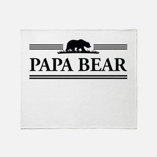 Papa Bear Throw Blanket