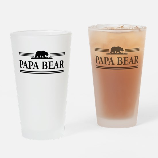 Papa Bear Drinking Glass
