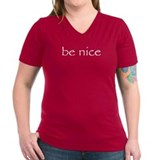Peace love laugh Womens V-Neck T-shirts (Dark)