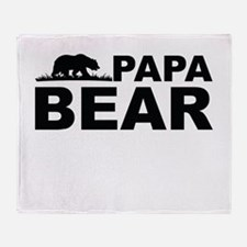 Papa Bear Throw Blanket