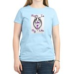Music Note Tribal Tattoo Women's Light T-Shirt