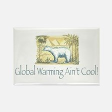 Polar Bear Earth Day Rectangle Magnet