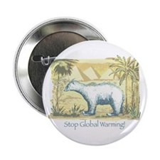 Polar Bear Earth Day Button